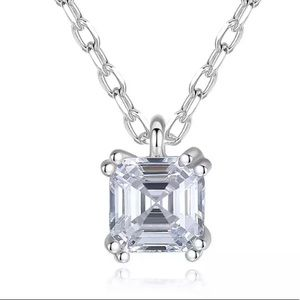 Stunning CZ Sterling Silver Necklace
